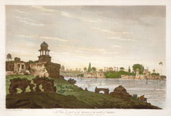 A View of part of the Ruins of the City of Agra(019XZZ000000307U00035000)